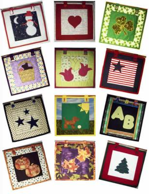 "12 Months of 12"" x 12"" Quilts Pattern AV-105"