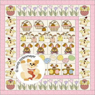 Easter Row by Row Quilt Pattern FCP-012