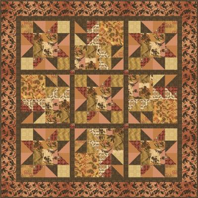 Sunset in the Sierras Quilt  Set Pattern GTD-116