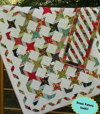 Twisting With The Stars Quilt and Table Runner Pattern LLD-041