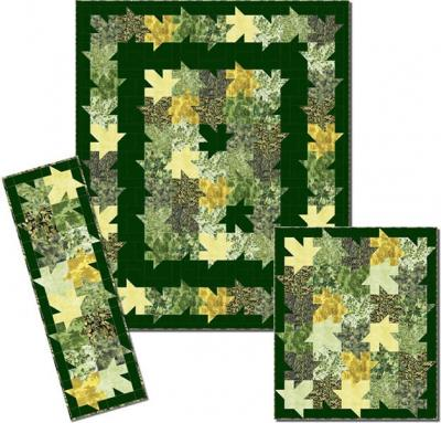 Swirling Leaves Quilt Pattern PC-121