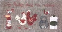 Poule Dans Ma Cuisine (Hen In My Kitchen) Embroidery Pattern ADI-117