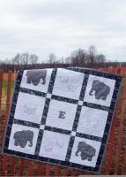 E is for Elephant Quilt Pattern AV-129