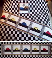 Little Race Cars Bed Runner & Pillow Pattern AV-130