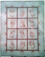 A Redwork Christmas Embroidery Quilt Pattern BAD-051
