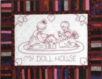 My Doll House Redwork Quilt Pattern BAD-083