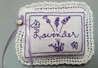 """Lavender"" Redwork Sachet Pattern BAD-210"