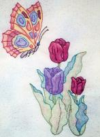 Butterfly Garden BOM - Block 1 Embroidery Pattern BCC-BG01