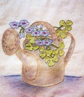 Grandma's Potted Treasures BOM - Block 1 Embroidery Pattern BCC-GPT1