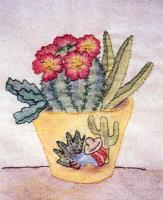 Grandma's Potted Treasures BOM - Block 8 Embroidery Pattern BCC-GPT8