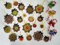 Christmas Fabric Ornaments with Bonus Candy Canes Pattern BS2-391