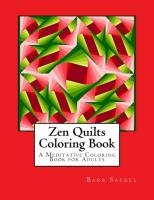 Zen Quilts Adult Coloring Book BS2-903