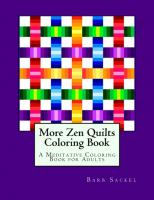 More Zen Quilts Adult Coloring Book BS2-904