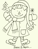 January Annie Embroidery Pattern CAM 541