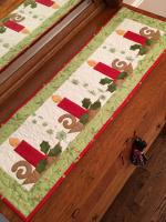Christmas Candles Table Runner Pattern CAM-575e