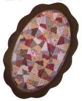 Oval Crazy Shuffle Table Topper Pattern CCD-141