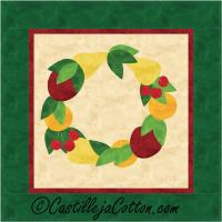 Bountiful Harvest Wreath Quilt Pattern CJC-4015