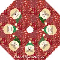 Santa Face Tree Skirt Pattern CJC-4636