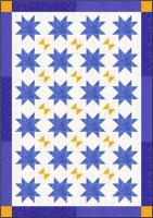 Floataing Stars with Butterflies Quilt Pattern CJC-46681