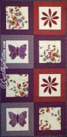 Butterfly and Flower Table Runner Pattern CJC-4717