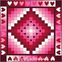 Floating Hearts Quilt Pattern CJC-4778