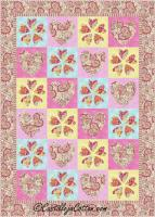 Hearts and Flowers Quilt Pattern CJC-48111