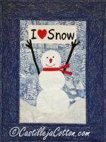 I Love Snow Quilt Pattern CJC-48932
