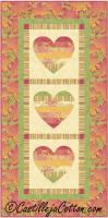 Whimsical Hearts Table Runner Pattern CJC-5051