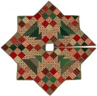 Christmas Patch Tree Skirt Quilt Pattern CMQ-109