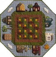 Prairie Town in Summer Table Topper Pattern CQA-502