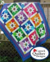 Jelly Bean Stars Quilt Pattern CQD-1027e