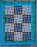 Rainbow Flying Geese Quilt Pattern CTG-045