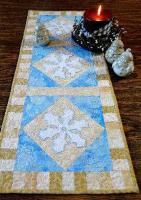Snowflake Table Runner and Candle Mat Pattern CTG-094