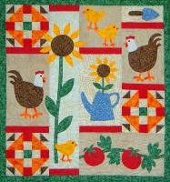 Chickens in the Garden Quilt Pattern CTG-164