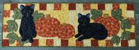 Pumpkin Patch Kitties Table Runner Pattern CTG-168