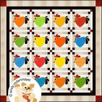 Chicken Hearted Quilt Pattern FCP-043