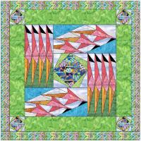 Flamingus Abstractus Quilt Pattern FID-826