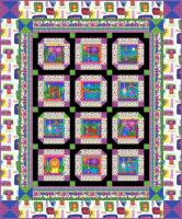Jungle Bright Quilt Pattern HHQ-7386