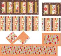 Table Trio Placemat, Napkin and Tablerunner Pattern JD-02