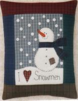 I Love Snowmen Pillow Pattern JMI-149