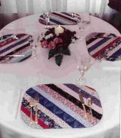 Strip Pieced Placemats & Pot Holders Pattern KB-1