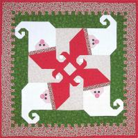 Santa In A Spin Quilt Pattern LOB-122