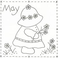 Sunbonnet Sue Stitchery BOM - May Pattern LQC-S5