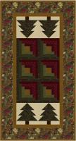 Log Cabin in the Pines Table Runner Pattern MF-201