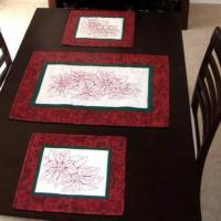 Poinsettia Placemats and Table Runner Pattern MMD2-516