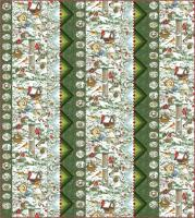 Feathered Log Cabins Quilt Pattern PC-193