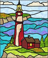 Lighthouse 1 Stained Glass Quilt Pattern PES-103