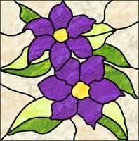 Clematis Stained Glass Quilt Pattern PES-108