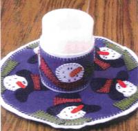 Winter Wonder Candle Mat Pattern PLD-806