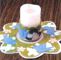 Spring Song Candle Mat Pattern PLD-807